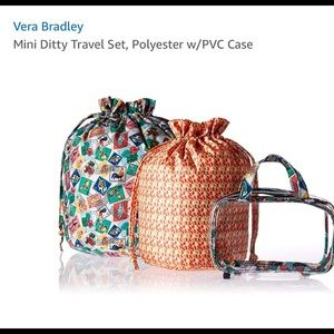 Vera Bradley ditty case Cuban stamps